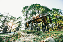 mule with saddle