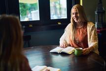 women's group Bible study in fall