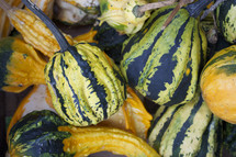 Pile of gourds.