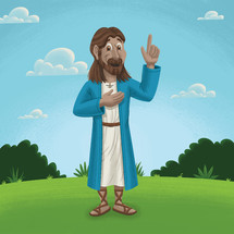 cartoon of Jesus teaching
