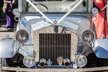 grill of a vintage car