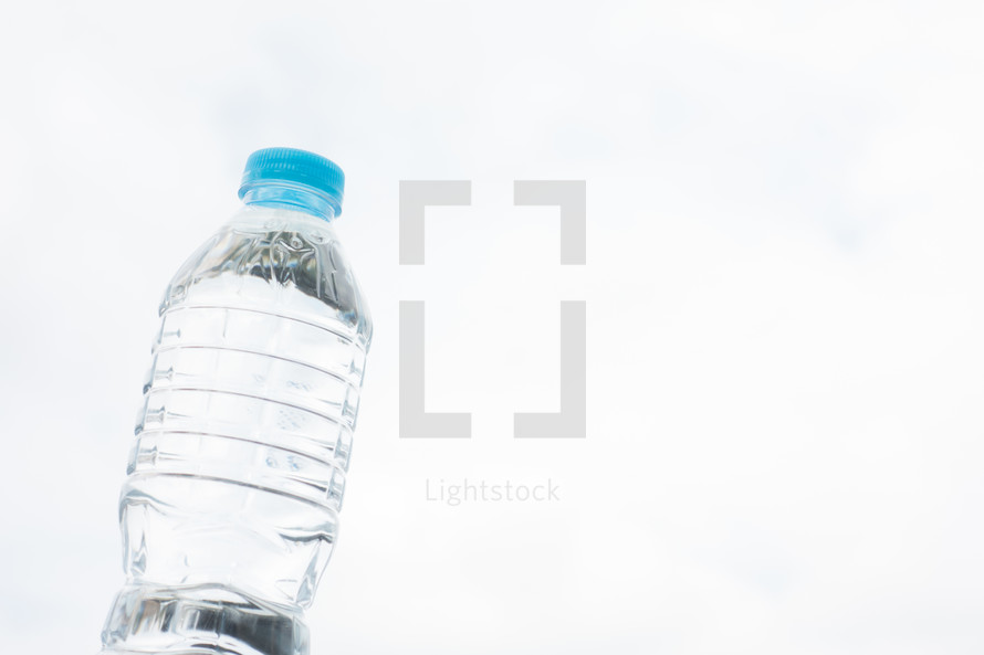 water bottle against a white background