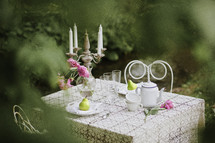 garden tea party outdoors