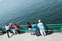 people on a ferry