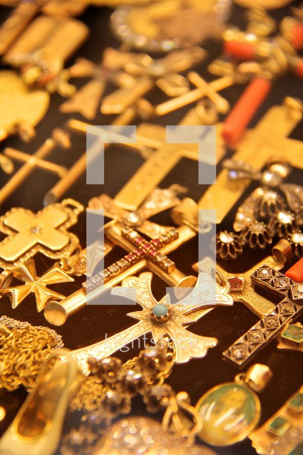 gold cross pendants