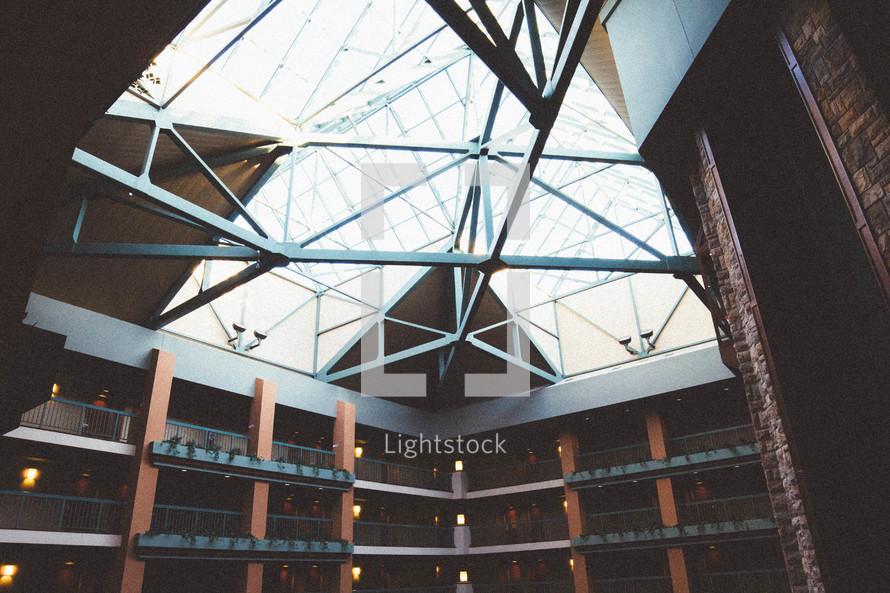 balconies and skylight