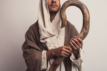 Joseph with his Shepherd's staff