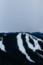 ski slopes on a mountainside