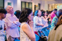 prayers during a worship service