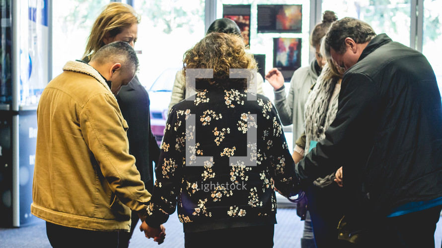 group prayer circle