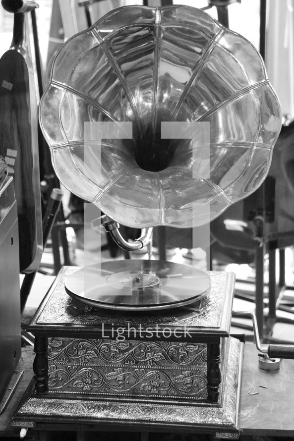 Vintage turntable.