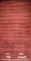 red stained wood planked