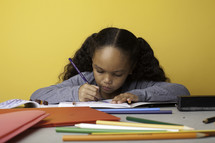 a girl child coloring