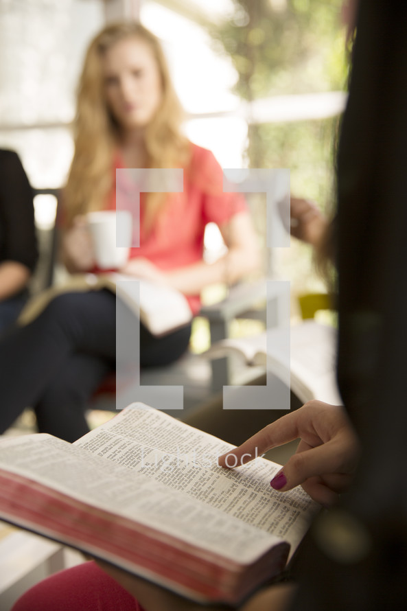 woman's group Bible study reading Bibles