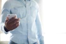 a man checking his cellphone