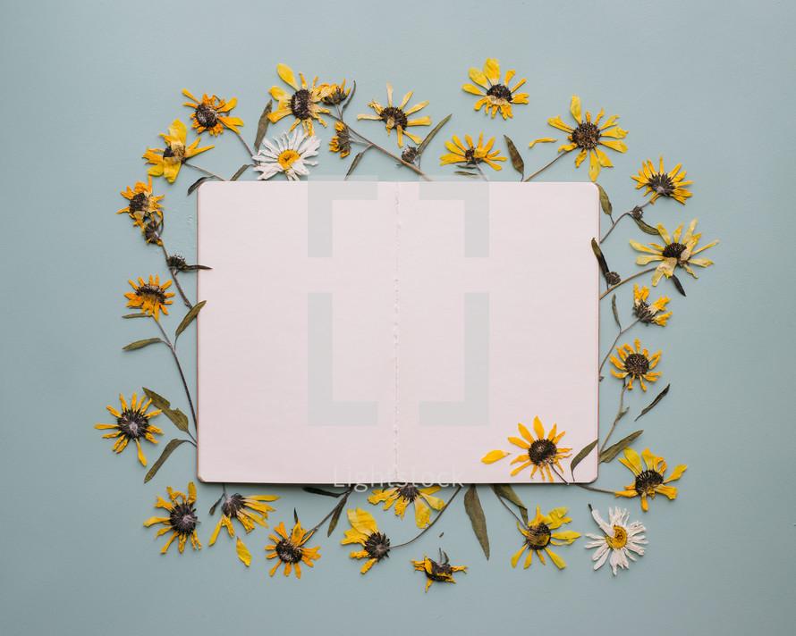 sunflower border and frame