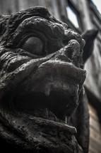Gargoyle sculpture.
