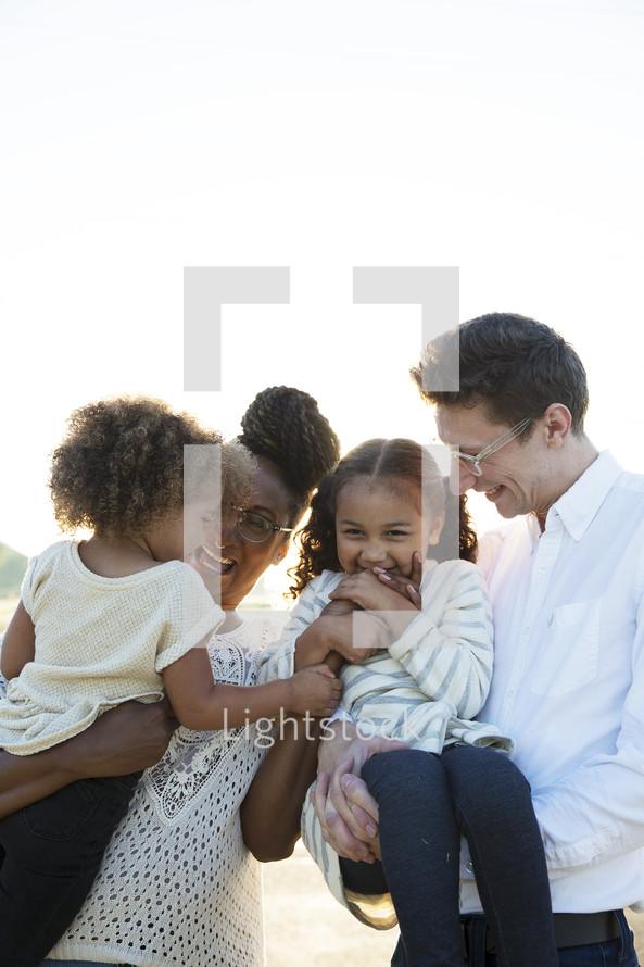 a happy loving family