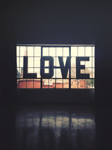 word LOVE sign