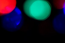 colorful bokeh lights at night