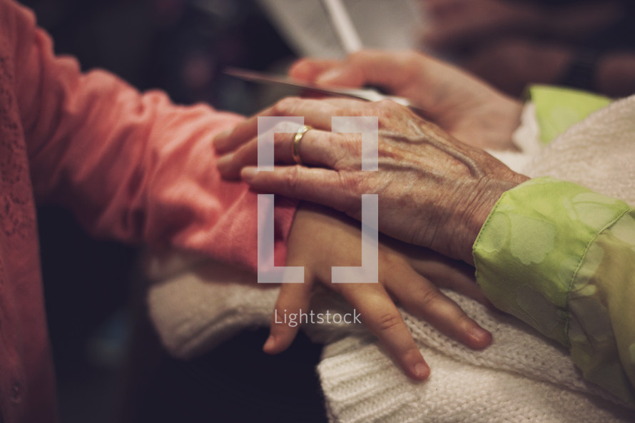 a grandmother's loving touch