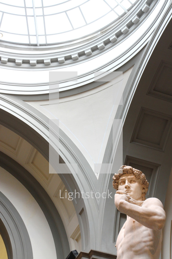 Michelangelo's David in the Accademia in Florence
