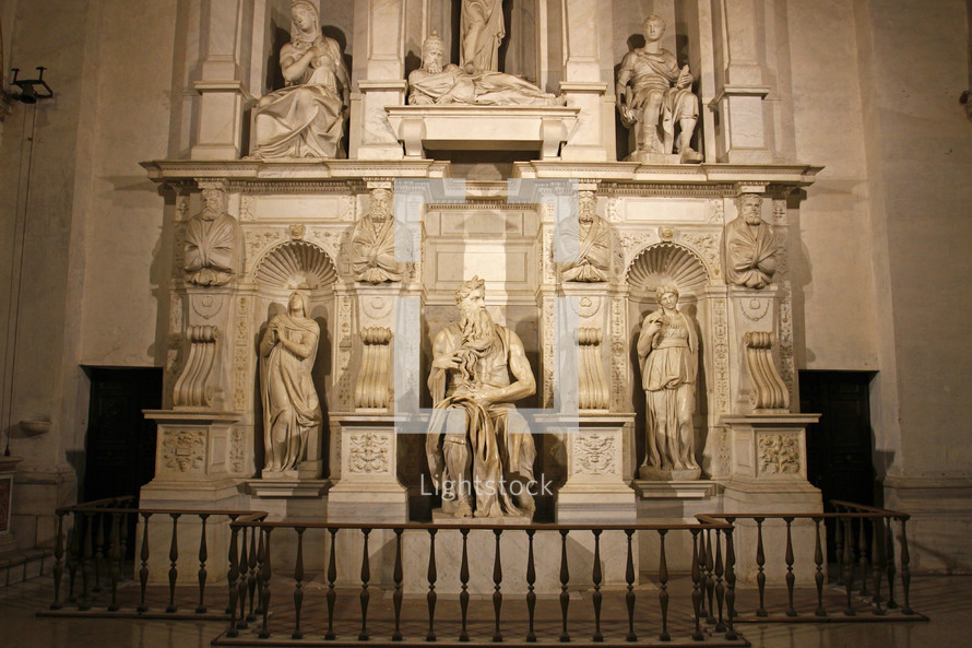 Michelangelo's Moses in Rome, Italy