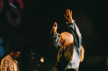 Worship leader leading student ministry