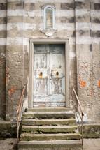 old door on a church