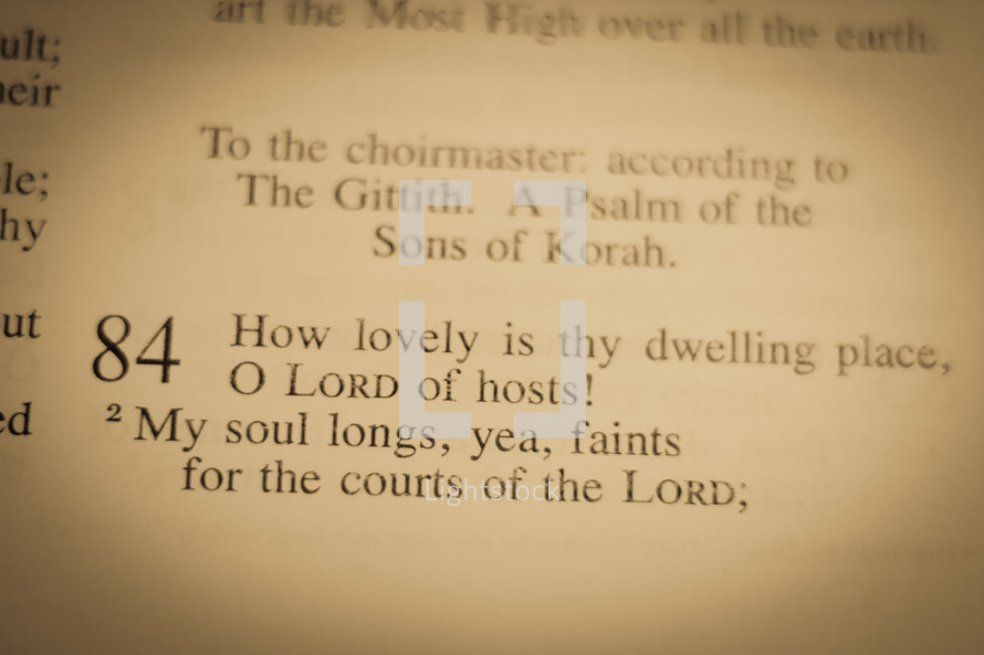 Psalm 84:1-2 How lovely is thy dwelling place, O Lord of hosts! My soul longs, yea, faints for the courts of the Lord;