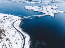 bridge over a winter waterway