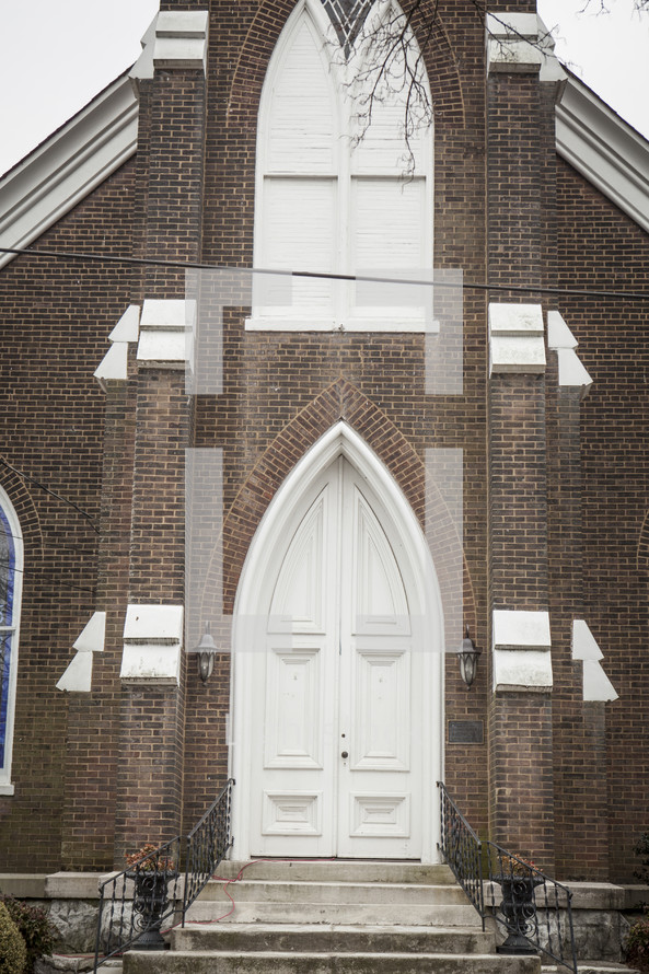 arched entrance to a church