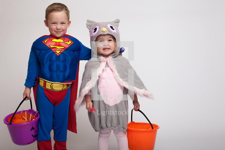 children dressed up for Halloween