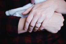 wife and mother's hands
