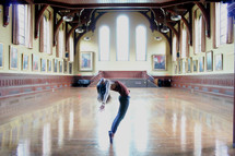Dancer rehearsing.