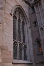 arched church window