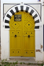 Arched oriental wooden doors