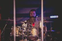 drummer at a drum set