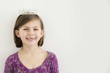 little girl in a tiara