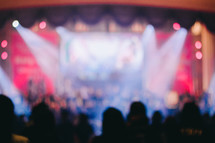 out of focus image at a concert