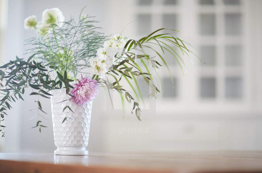 vase of flowers on a table