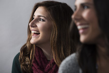 teen girls laughing