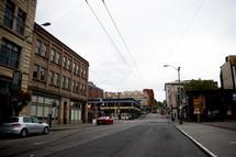 a quiet downtown street