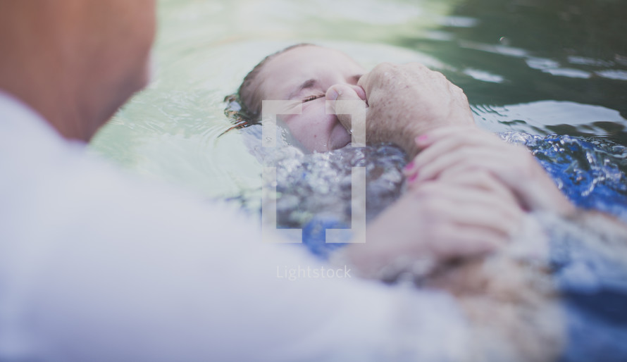 baptism in a body of water
