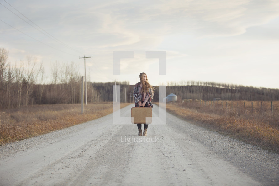 a young woman at the crossroads of life