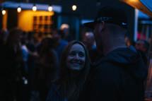 conversations at an evening reception