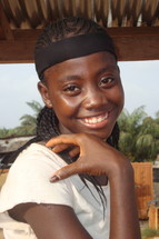 A smiling teenage African girl