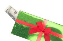 cash in a gift box