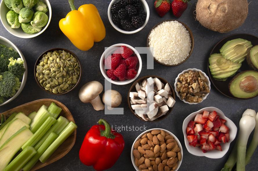 healthy food spread