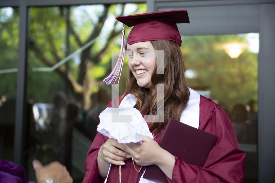 girl on graduation day